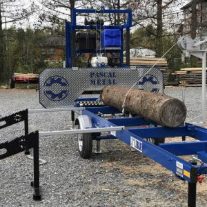 One-Way Loading Ramps + Log turner with Manual winch combo
