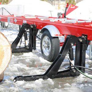 Lève-billot hydraulique pour scierie mobile