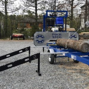 One-Way Loading Ramps + Log turner with Electric winch combo