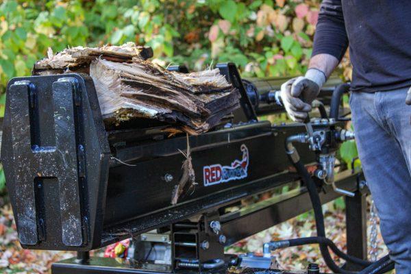 red runner rr270 log splitter side